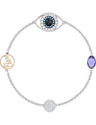 Picture of Swarovski Remix Collection Evil Eye Strand, Mor, Karışık metal