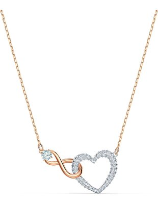 Picture of Swarovski Infinity Heart Kolye, Beyaz, Karışık metal
