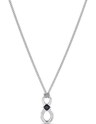 Picture of Swarovski Infinity kolye, Siyah, Rodyum kaplama