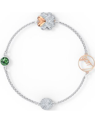 Picture of Swarovski Remix Collection Clover Strand, Yeşil, Karışık metal