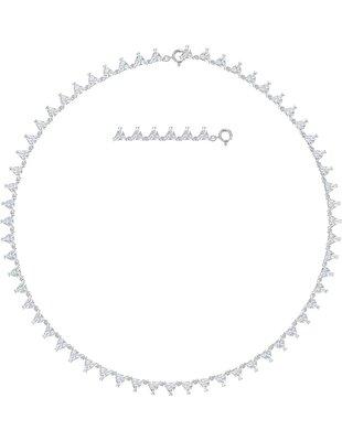 Picture of Millenia Kolye, Üçgen, Beyaz, Rodyum kaplama