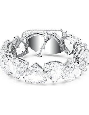 Picture of Millenia Bileklik, Üçgen kesim kristaller, Beyaz, Rodyum kaplama