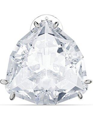 Picture of Mesmera Klipsli Küpe, Tek, Üçgen kesim kristal, Beyaz, Rodyum kaplama