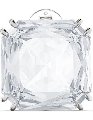 Picture of Mesmera Küpe, Kare kesim kristal, Beyaz, Rodyum kaplama