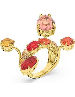 Picture of Gema Yüzük, Çok renkli, Altın rengi kaplama