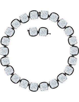 Picture of Harmonia Gerdanlık, Yastık kesim kristaller, Beyaz, Karışık metal bitiş