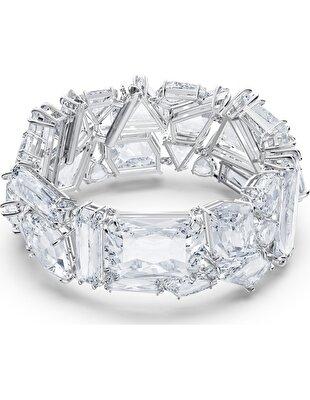 Picture of Mesmera Bileklik, Büyük kristaller, Beyaz, Rodyum kaplama