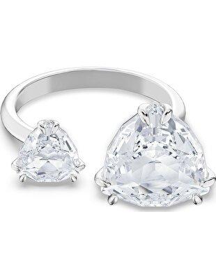 Picture of Millenia Kokteyl Yüzüğü, Üçgen kesim kristaller, Beyaz, Rodyum kaplama