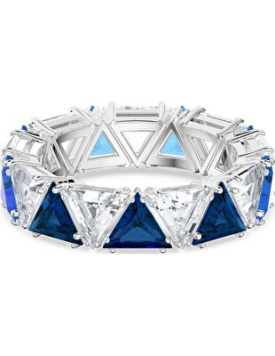 Picture of Millenia Kokteyl Yüzüğü, Üçgen kesim kristaller, Mavi, Rodyum kaplama